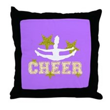 Cheerleader purple and gold Throw Pillow