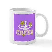 Cheerleader purple and gold Mugs