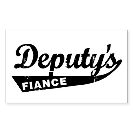 Vintage Deputys Fiance Rectangle Sticker