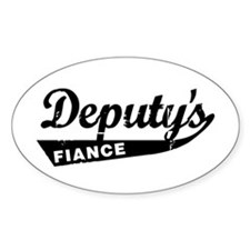 Vintage Deputys Fiance Oval Decal