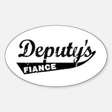 Vintage Deputys Fiance Oval Decal