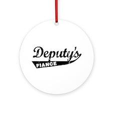 Vintage Deputys Fiance Ornament (Round)