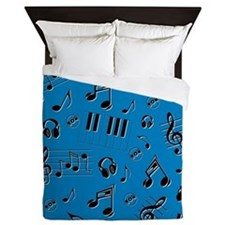 MUSICALLY INCLINED Queen Duvet