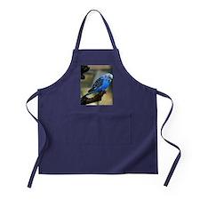 Blue Budgie Apron (dark)