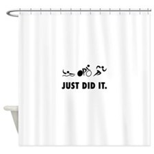 Just Did It Triathlon Shower Curtain
