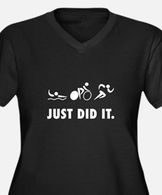 Just Did It Triathlon Plus Size T-Shirt