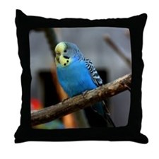 Budgie Flower Throw Pillow