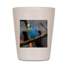 Budgie Flower Shot Glass