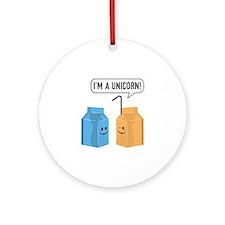 I'm A Unicorn! Ornament (Round)