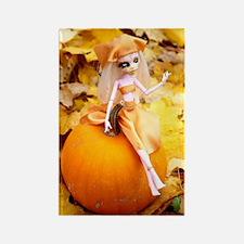 Pumpkin Fairy Rectangle Magnet