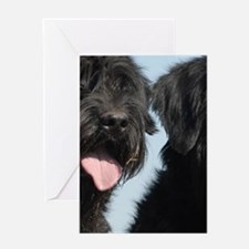 2 giant schnauzers Greeting Cards