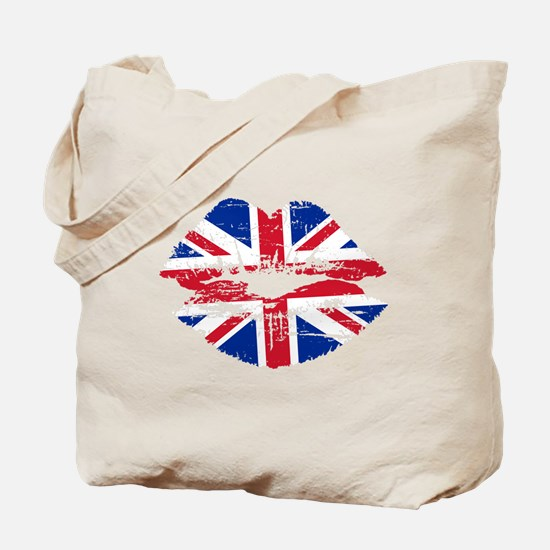 UK Flag Union Jack Lips Tote Bag