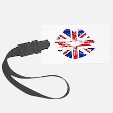 UK Flag Union Jack Lips Luggage Tag