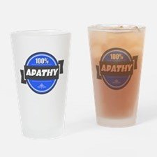 100% Apathy Drinking Glass