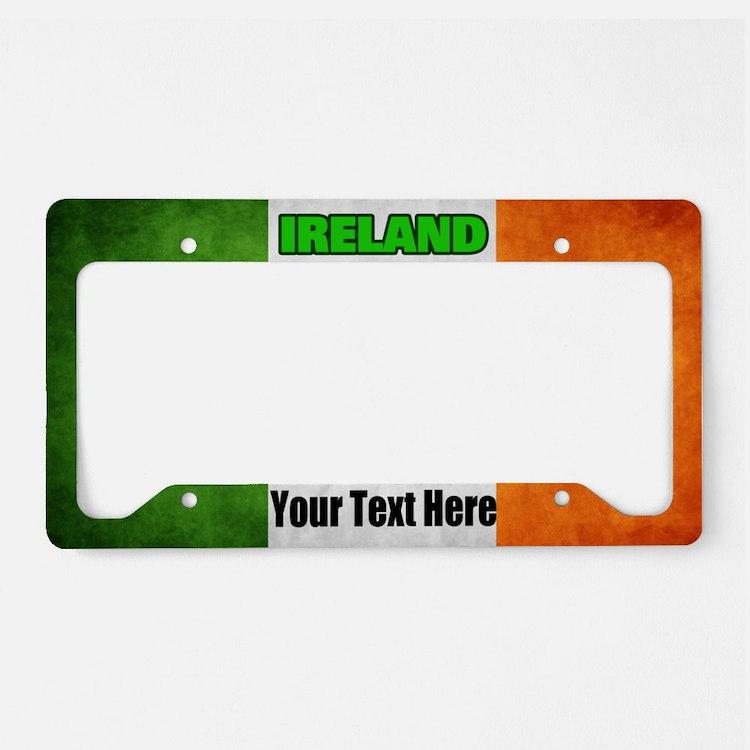 Flag Of Ireland Custom License Plate Holder