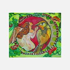 Wren by RuthOlivarMillan Throw Blanket