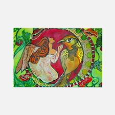 Wren by RuthOlivarMillan Rectangle Magnet