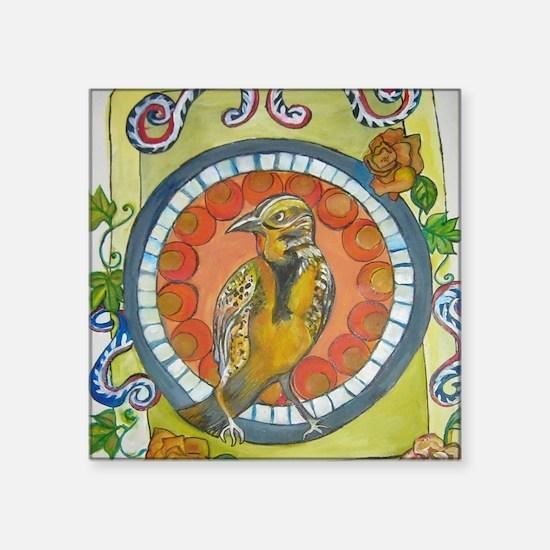 """Golden Wren Mexican Colonia Square Sticker 3"""" x 3"""""""