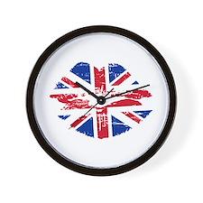 UK Flag Union Jack Lips Wall Clock
