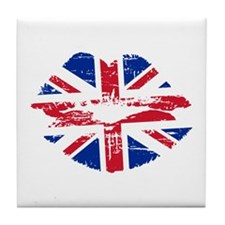 UK Flag Union Jack Lips Tile Coaster