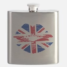 UK Flag Union Jack Lips Flask
