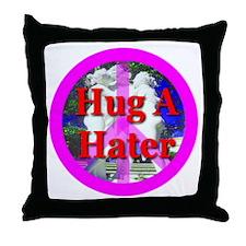 Hug A Hater Throw Pillow