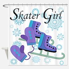 Skater Girl Shower Curtain