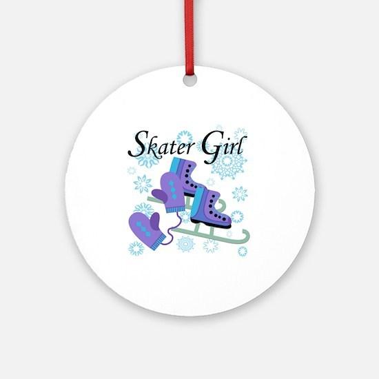 Skater Girl Ornament (Round)