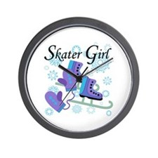 Skater Girl Wall Clock