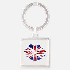UK Flag Union Jack Lips Keychains