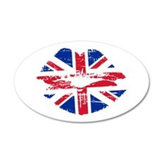 UK Flag Union Jack Lips Wall Decal