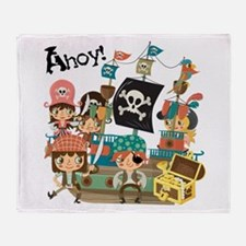 Pirates Ahoy Throw Blanket