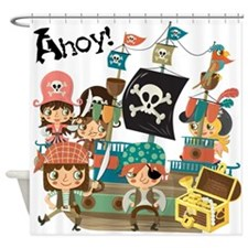 Pirates Ahoy Shower Curtain