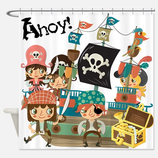 Pirates Ahoy Shower Curtain