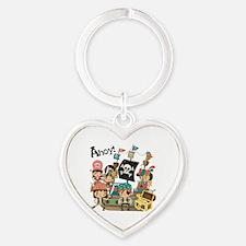 Pirates Ahoy Heart Keychain