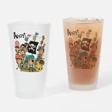 Pirates Ahoy Drinking Glass