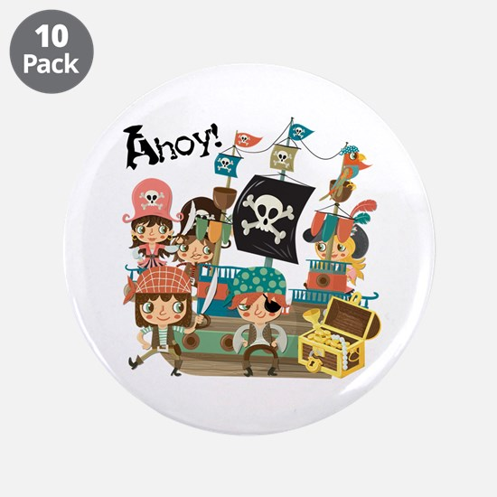 "Pirates Ahoy 3.5"" Button (10 pack)"