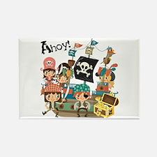 Pirates Ahoy Rectangle Magnet