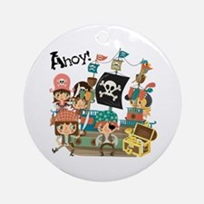 Pirates Ahoy Ornament (Round)