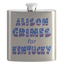 ALISON GRIMES for KENTUCKY Flask
