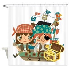 Pirates With Treasure Shower Curtain