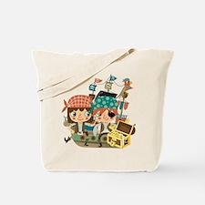 Pirates With Treasure Tote Bag