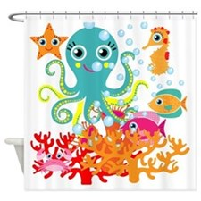 Welcome to the Ocean Shower Curtain