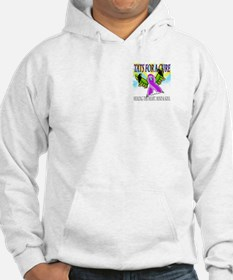 Butterfly Tattoo Guns for Tats for a Cure Hoodie