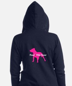 Unique Pitbull rescue Women's Zip Hoodie