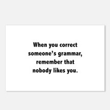 When You Correct Someone's Grammar Postcards (Pack