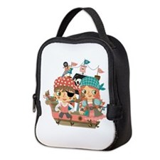 Girly Pirates Neoprene Lunch Bag
