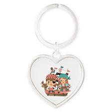 Girly Pirates Heart Keychain