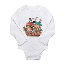 Girly Pirates Long Sleeve Infant Bodysuit