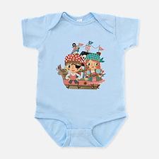 Girly Pirates Infant Bodysuit